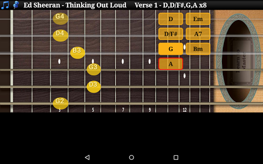 Guitar Scales & Chords Free Added Sustain option screenshots 15