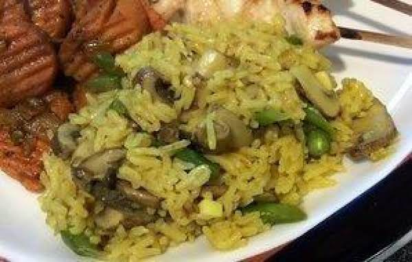 Curried Rice And Green Beans