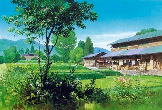 ilustración tradicional kazuo oga