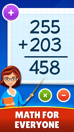 Math Games - Addition, Subtraction, Multiplication apklade screenshots 1