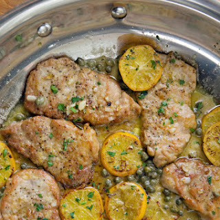 Pork Medallions with Picatta Sauce.
