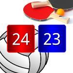 Volleyball Pong Scoreboard, Match Point Scoreboard Icon