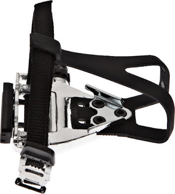 Wellgo LU-961 Road Pedals Silver with Clips /& Straps