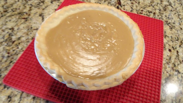Spread evenly into baked & cooled pie shell. Set to cool. Preheat oven to...