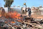 SAPS and the JMPD in this file picture are destroying illegal mining equipment  near Roodepoort. The police have arrested 20 illigal miners on Tuesday.