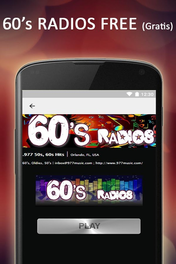 Free 60s & 50s Radios Music- screenshot