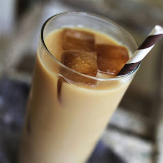 Lavender Iced Coffee.