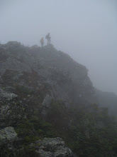 Photo: En route to the summit, the visibility left a little to be desired. Photo by Dave Socky