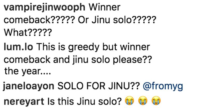 winner jinwoo solo rumor