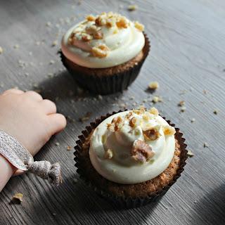 Carrot Cake Cupcakes with Walnut Sprinkles