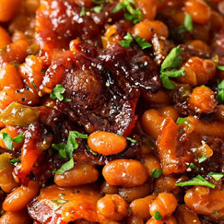 Brown Sugar and Bacon Baked Beans.