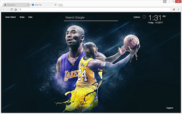 Kobe bryant wallpaper hd black mamba new tab chrome basketball themes with hd wallpapers of kobe bryant the black mamba made by fans for fans of kobe bryant nba los angeles lakers voltagebd Gallery