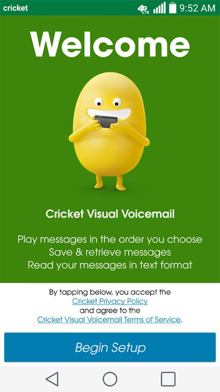 Cricket Visual Voicemail