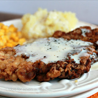 Country Fried Pork with White Gravy.