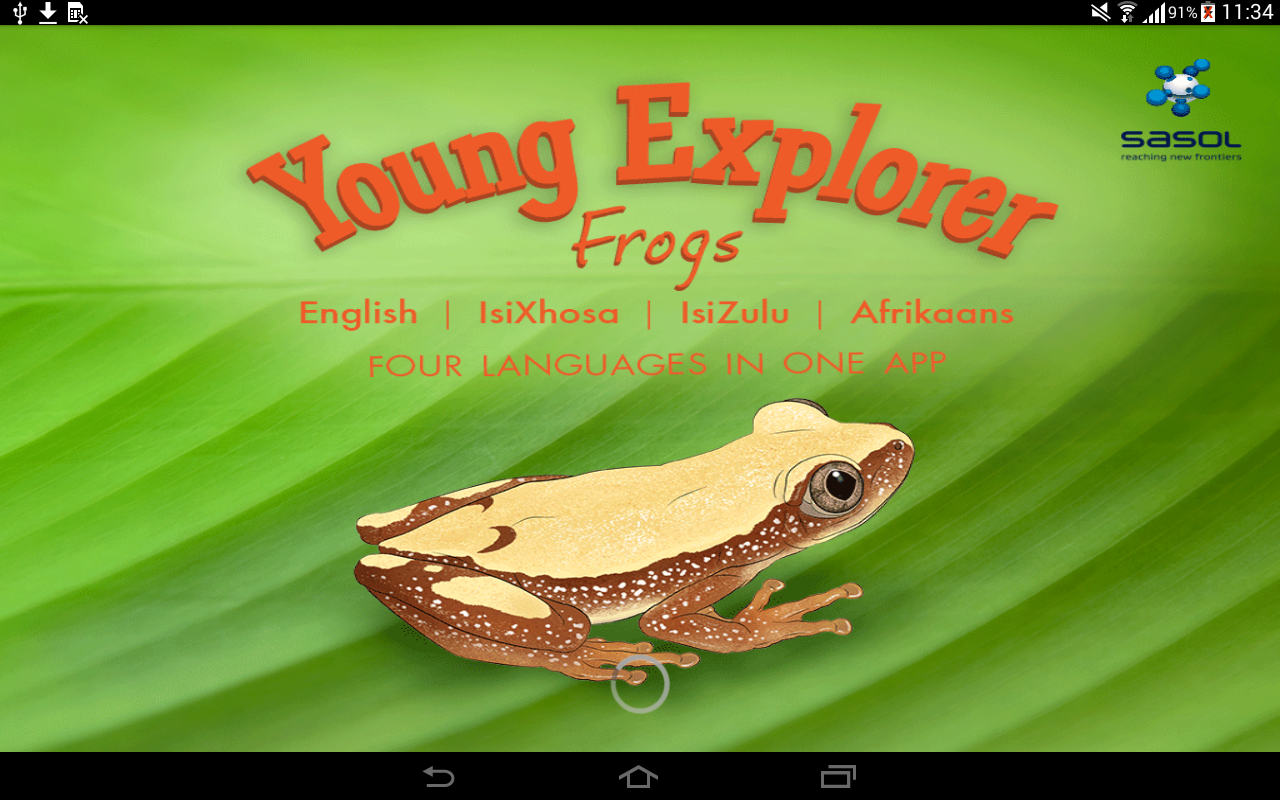 Sasol Young Explorer – Frogs- screenshot