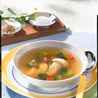 Chicken, Broccoli and Tomato Soup.