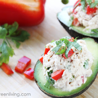 Tuna Salad Stuffed Avocados.