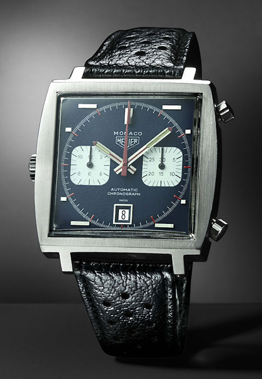 The 1969 original Heuer Monaco.