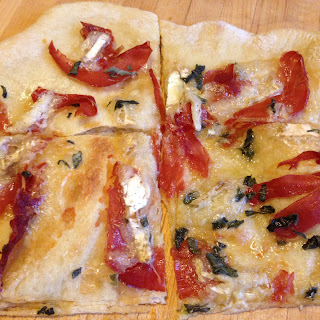 BRIE, PROSCUITTO AND SAGE FLATBREAD PIZZA