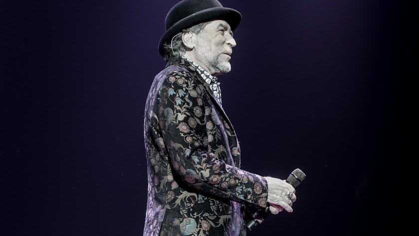 Joaquín Sabina, durante el concierto ofrecido en Madrid en enero.