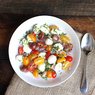 Caprese Salad with Cherry Tomatoes and Ciliegine