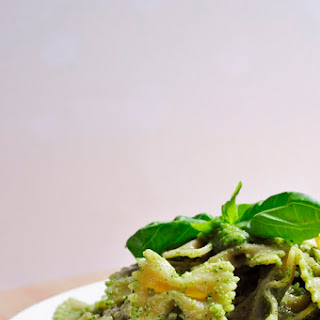 Cilantro Basil Pesto Pasta.