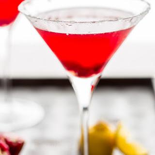Pomegranate Lemon Drop Martini.