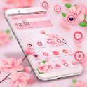 Beautiful Pink Flower Theme icon