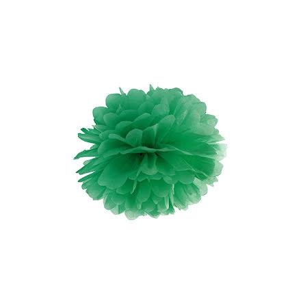 Pom pom - smaragdgrön 25 cm