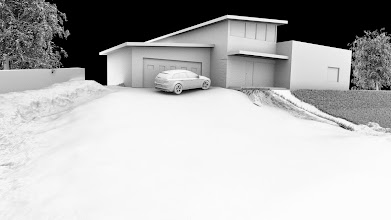 Photo: Exterior render - ambient occlusion