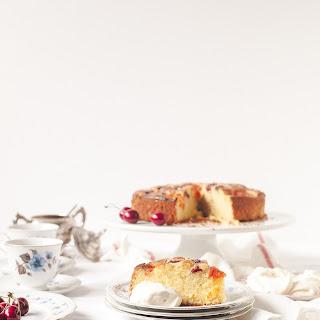Cherry and Apricot Cake with Amaretto Cream