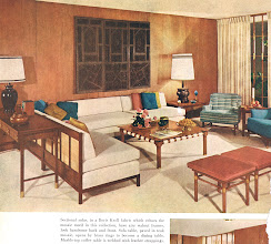 Photo: Walnut seems to have been the popular finish for most modern furniture pieces of the 50's