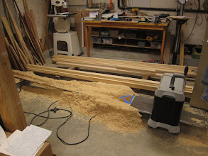 Photo: Planing the sitka spruce stock before laminating the spars.
