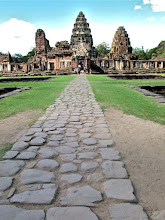 Photo: stone walkway leading to the entrance of the Khmer sanctuary, Phimai Historical Park