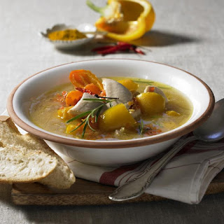 Curried Chicken and Lentil Soup.
