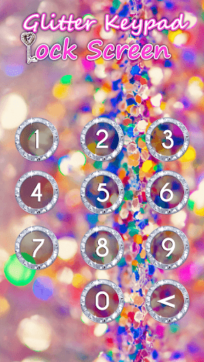 Glitter Keypad Lock Screen 5.0 screenshots 1