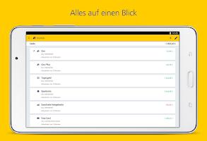 Screenshot of Postbank Finanzassistent