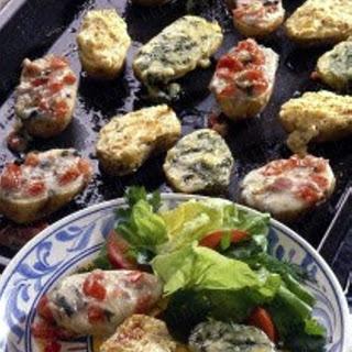 Backkartoffeln mit dreierlei Käsehaube