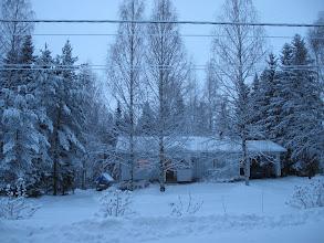 """Photo: Neljän 15 minuutin välein otetun kuvan avulla voi seurata """"sinisen hämärän"""" kehittymistä 30.12.2009.."""