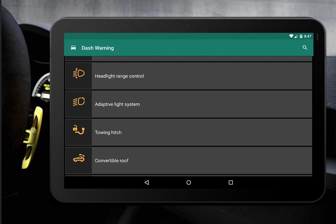 Dashboard warning lights android apps on google play dashboard warning lights screenshot buycottarizona