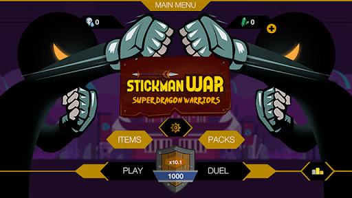 Télécharger Gratuit Stickman War - Super Dragon Warriors APK MOD (Astuce) screenshots 1