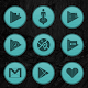 Wooden Radial Teal Icons Download on Windows