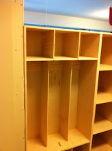 Photo: The two bottom cabinets in place.