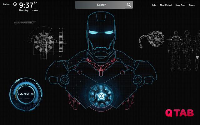 Iron Man Wallpapers Theme Iron Man New Tab