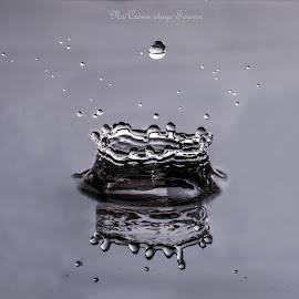 Crown by Avirup Banerjee - Typography Captioned Photos ( #fast, #beauty, #sparkle, #drops, #water, #crown )