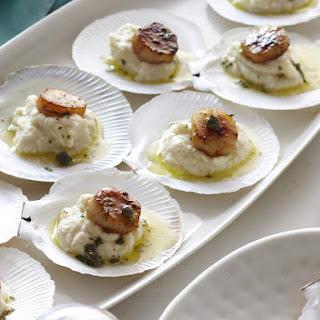 Seared Scallops on Celeriac Puree.