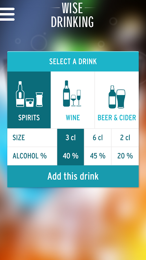 Wise Drinking: Let's be smart- screenshot