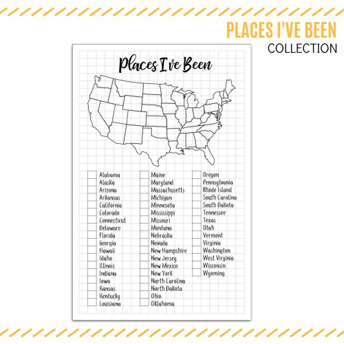 Places I've been collection printable