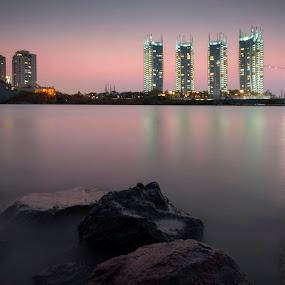 A Night in Regatta by Miko Adji - Landscapes Waterscapes ( pantai mutiara, 2015, jakarta, miko, regatta, evening )