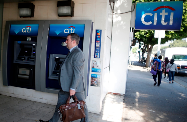 A man passes a Citibank ATM in New York, the US. Picture: REUTERS